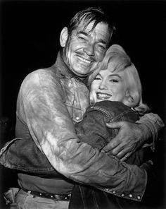 Marilyn and Clark Gable photographed during the filming of The Misfits, 1960.