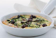 Frittata gratinata al caprino e olive