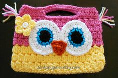 Cute Crochet Owl Purse....perfect for a little girl