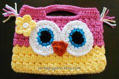 Cute Crochet Owl Purse....perfect for a little girl