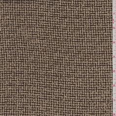 Mocha brown and tan. A woven, light to medium weight wool and rayon blend fabric that has a very soft hand and excellent drape.Compare to $17.00/yd