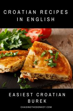 Balkan Food: Easiest Croatian Burek Recipe You can't miss trying burek when in the – and you'll fall in love. So, here is an easy to make Albanian Recipes, Bosnian Recipes, Turkish Recipes, Ethnic Recipes, Bosnian Food, Hungarian Recipes, Serbian Food, European Dishes, European Cuisine
