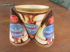 Ice Cream Vintage Take Home Sundae Wrapper by AnUnexpectedJourney