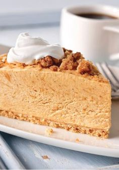 Streusel-Topped Pumpkin Pie – This no-bake pumpkin pie recipe, made with cheesecake pudding mix, is spiced just right. And the crunchy walnut-streusel topping makes it extra special.