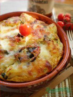 Cartofi noi cu ciuperci si mozarella la cuptor.Cum preparam cartofi noi cu ciuperci si mozzarella la cuptor in vas de ceramica.