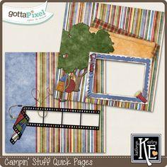 Campin' Stuff Quick Pages :: Gotta Pixel Digital Scrapbook Store   $2.99
