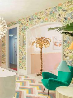 Nuria Alia is a Spanish Interior Designer, known for her special ability to create different areas. Her projects transmit a personal yet practical design created around her clients. #nuriaalia #CovetHouse #futurehomedesign #perfecthome #homedecorclassic #classichomedesign Mosaic Floors, Spanish Interior, Dream Bathrooms, Valance Curtains, Spain, House Design, Flooring, Interior Design, Bedroom