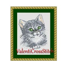 CAT cross stitch pattern, cross stitch cat, counted cross stitch cat, cross stitch patterns, cross stitch pattern by ValentiCrossStitch on Etsy https://www.etsy.com/listing/227714120/cat-cross-stitch-pattern-cross-stitch