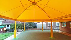 Large outdoor shelters for schools.