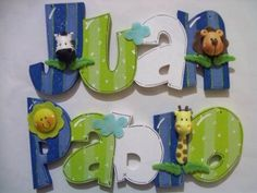 nombres en mdf decorados - Buscar con Google Painting Wooden Letters, Cardboard Letters, Diy Letters, Painted Letters, Wood Letters, Painting On Wood, Hand Painted, Diy And Crafts, Crafts For Kids