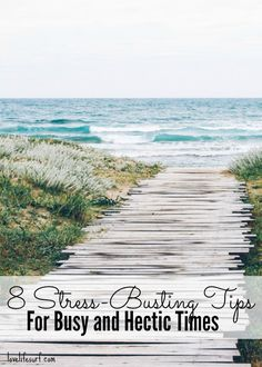 8 easy ways to de-stress during busy and hectic times in your life. They're simple and easy to fit into your day. Plus, 3 best yoga poses for stress relief.