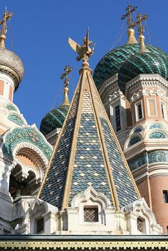 Russian Church in Nice.  By ayearineurope.com.  Via Flickr.