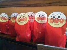 Anpanman birthday party gift bags.  We filled it with senbei.