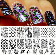 Forest Pattern Trees Nail Art Stamp Template Image Plate BORN PRETTY BP-L015