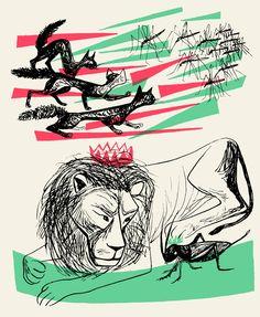 o grilo e o leão, Maria Keil
