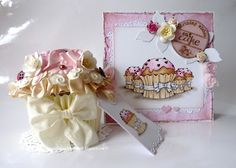Sweet Cupe Cake Card.  Label is ook leuk