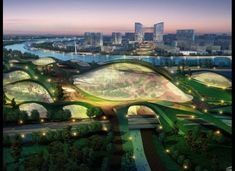 Expected to be up and running in 2020, Tianjin Eco-City is one of these real-life sustainable communities, spanning 30 square kilometers and showcasing the hottest energy-saving technologies. Designed by Surbana Urban Planning Group, the city will have an advanced light rail transit system and varied eco-landscapes ranging from a sun-powered solarscape to a greenery-clad earthscape