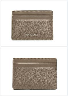 3254930905df12 Michael Kors Taupe Saffiano #Leather Harrison Boxed Card Case #michaelkors # cardcase #luxury. Tradesy