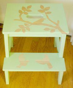 Ikea Hack - Reverse Stencilled Stepstool