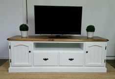 Shabby-Chic-French-Provincial-Hamptons-Country-Cottage-TV-Entertainment-Unit #shabbychicfurniturefrench