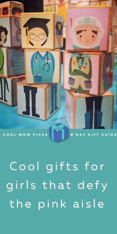 """These smart toys for girls offer career aspiration and inspiration beyond the typical princesses, ballerinas or """"fashionistas,"""" whatever career that is. Because girls can be anything, right? Let's encourage all their dreams! (Including ballerina -- dancers work hard!) #giftsforgirls #giftguide #giftsforkids Best Gifts For Girls, Cool Gifts For Kids, Toys For Girls, Cool Mom Picks, Community Helpers, Smart Girls, Best Mom, Ballerinas, Tween"""