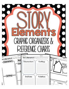 Story Elements Graphic Organizers That Builds Comprehension Before, During and After ReadingHere is a PREVIEW of our Bundled Reading Graphic Organizers Click here! :  Bundled Reading Graphic Organizers  How to Use this Product:Graphic Organizers is a great way to keep track of students learning throughout the year.
