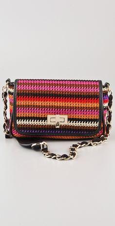 M Missoni Crochet Knit Bag in Multicolor (multi)