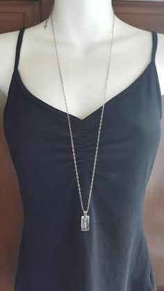 Items similar to Necklace with Swarovski crystal in stainless steel, charm. on Etsy Swarovski Crystals, Stainless Steel, Chain, Elegant, Etsy, Jewelry, Crystal, Necklaces, Classy
