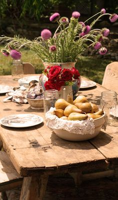 sunny outdoor picnic