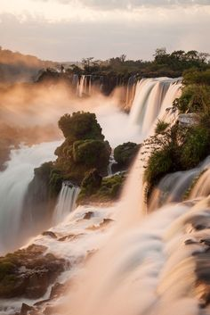 Iguazu Sunrise Argentina Waterfall is just like family's love that will never stop flowing Beautiful Waterfalls, Beautiful Landscapes, Places To Travel, Places To See, Places Around The World, Around The Worlds, Iguazu Waterfalls, Landscape Photography, Nature Photography