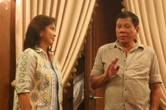 President Rody Duterte and Vice President Leni Robredo Vice President, Presidents, Target, Men Casual, Mens Tops, Target Audience, Goals