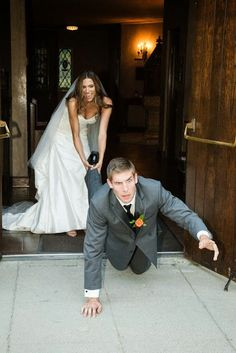 having fun with the pictures. Gotta have a few funny wedding pictures!