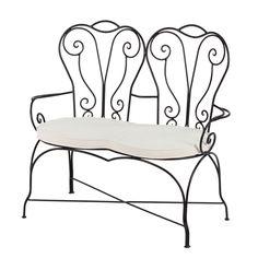 "Eisenbank ""Lavid"" - 2-Sitzer Sofa aus Marokko www.albena-shop.de"