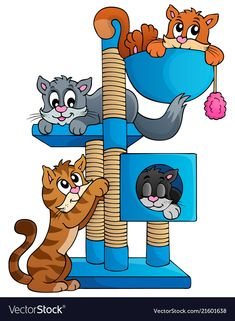 Cat theme image 1 vector image on VectorStock Vector Stock, Vector Free, Colour Book, Inkscape Tutorials, Classroom Organisation, Animal 2, Adobe Illustrator, Scooby Doo, Coloring Books