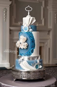 blue danube wedding cake by Anna Elizabeth Cakes