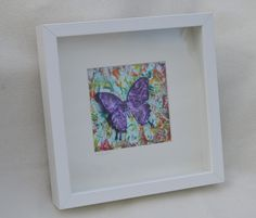Encaustic wax Painted Butterfly By Moo Doodle https://www.facebook.com/moodoodle15