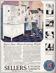1921 Sellers Kitchen Cabinets - Ooops! by American Vintage Home, via Flickr