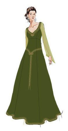 hobby naaien :: Onderwerp bekijken - Medieval jurk met Keltische invloeden