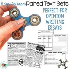Quality essays from paired texts about fidget spinners. Give your students a topic they actually WANT to write about.