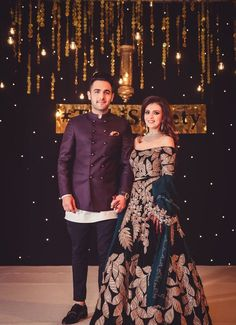 Engagement Dress For Groom, Couple Wedding Dress, Wedding Dresses Men Indian, Indian Gowns Dresses, Indian Bridal Outfits, Pakistani Bridal Dresses, Indian Fashion Dresses, Indian Designer Outfits, Indian Engagement Outfit