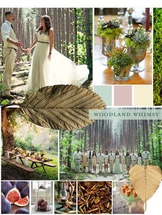 BRIDAL INSPIRATION: Choosing your #weddingtheme is almost as important as choosing your dress. Take inspiration from this week's Midweek Moodboard: Woodland Whimsy, read more on the blog. #CatherineDeane #weddingtheme #bride #bridal
