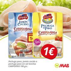Pechuga de pavo o jamón cocido Campofrío, en #oferta hasta el 28 de enero! Ideas para una cena baja en calorías  #YoMeCuido #VidaSana