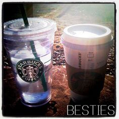 Starbucks cups together. Sweet Sweet, Love Is Sweet, Pint Glass, Starbucks, Bliss, Cups, Relax, Coffee, Paper