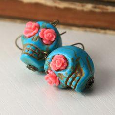 Flowers in their eyes earrings.