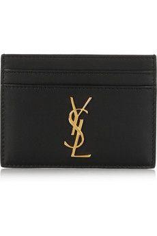 Saint Laurent Leather cardholder | NET-A-PORTER
