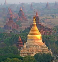 Temples in Bagan, Myanmar. I'd love to visit Myanmar one day and see these temples. High on the bucket list. Places Around The World, Oh The Places You'll Go, Places To Travel, Places To Visit, Around The Worlds, Myanmar Travel, Asia Travel, Burma Myanmar, Bagan