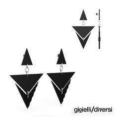 pendant earrings from pvc