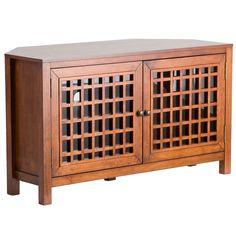 Upton Home Hurley Walnut Corner Tv Stand/ Media Cabinet