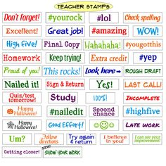 Teacher Stamps for grading, Self Inking Rubber Stamps for teacher classroom supplies Teacher Classroom Supplies, Teacher Toolkit, Teacher Stamps, Becoming A Teacher, Thing 1, And Peggy, Great Teacher Gifts, Look Here, Classroom Language