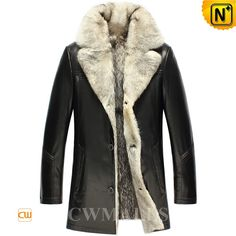 Wolf Fur Leather Coats for Men CW855583 Handsome winter wolf fur coat for men, crafted from imported supple wolf fur interior, wolf collar,and smooth lambskin leather shell, designer warm fur lined leather coat keeps you cozy when temperatures plummet. www.cwmalls.com PayPal Available (Price: $1557.89) Email:sales@cwmalls.com